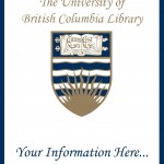 Sample of a UBC Library Bookplate